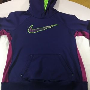 Nike Women's Therma Fit Hooded Sweatshirt Purple